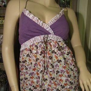 Belle du Jour Purple, Orange & White Floral Top S